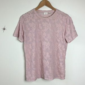 Wilfred Soft Pink Embroidered Top